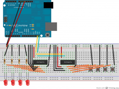 projects:i2c_pcf8574_8bit_port_expander - elger org